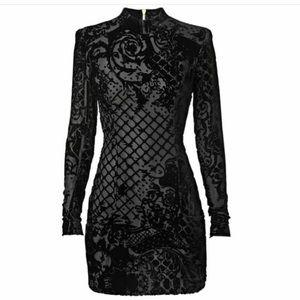Balmain x H&M velvet mini dress. New w/tags!